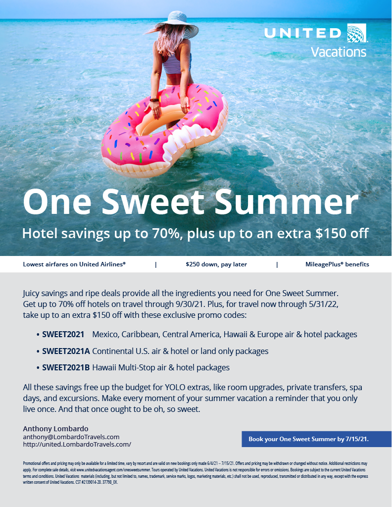 United Vacations One Sweet Summer